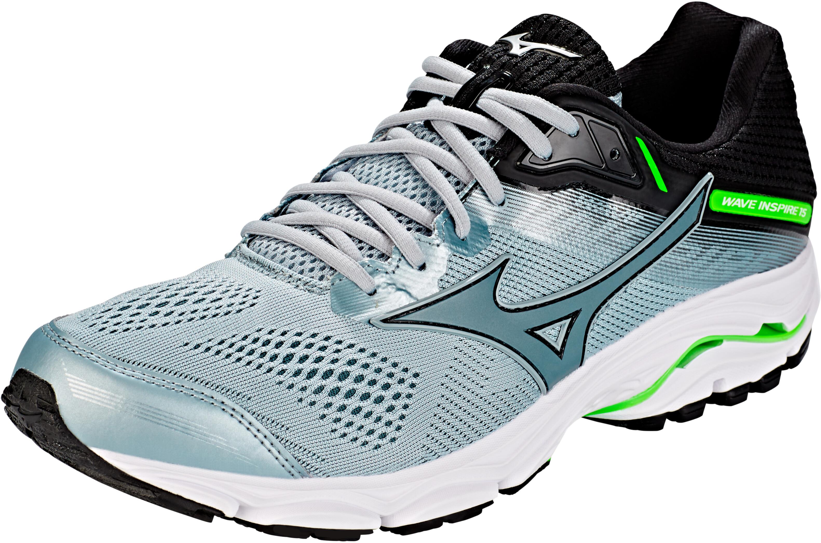 18855d32efe7 Mizuno Wave Inspire 15 Running Shoes Men grey green at Addnature.co.uk